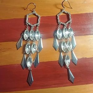 "Silver Tone. ""Chandelier"" Earrings"